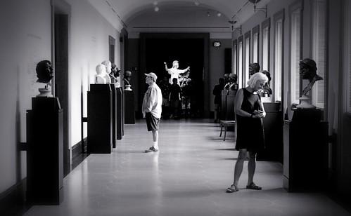 Museumgoers, Getty Villa (toned)