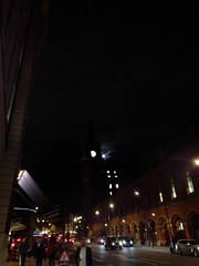 Moon over Kings Cross station
