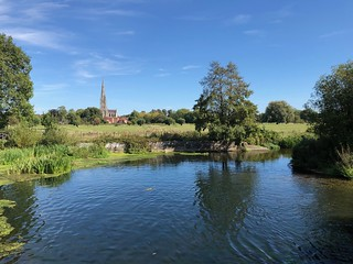 Salisbury Cathedral and Harnham water meadows