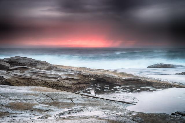 Dark and Moody Rocky Seascape
