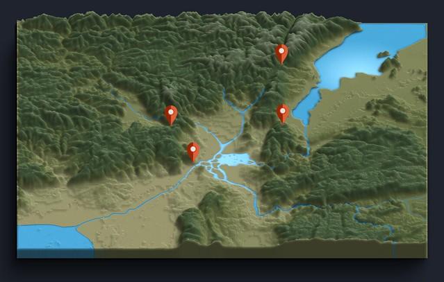 四角四境祭(しかくしきょうさい)の4つの境界(平安京(山城国)と外部をつなぐ4つの関所