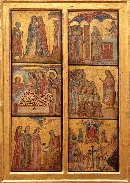 Deodato di Orlando (1274 - 1331 Lucca) - elemento di un trittico con scene della vita di Giovanni Battista e il Giudizio Universale - Gemäldegalerie, Berlin