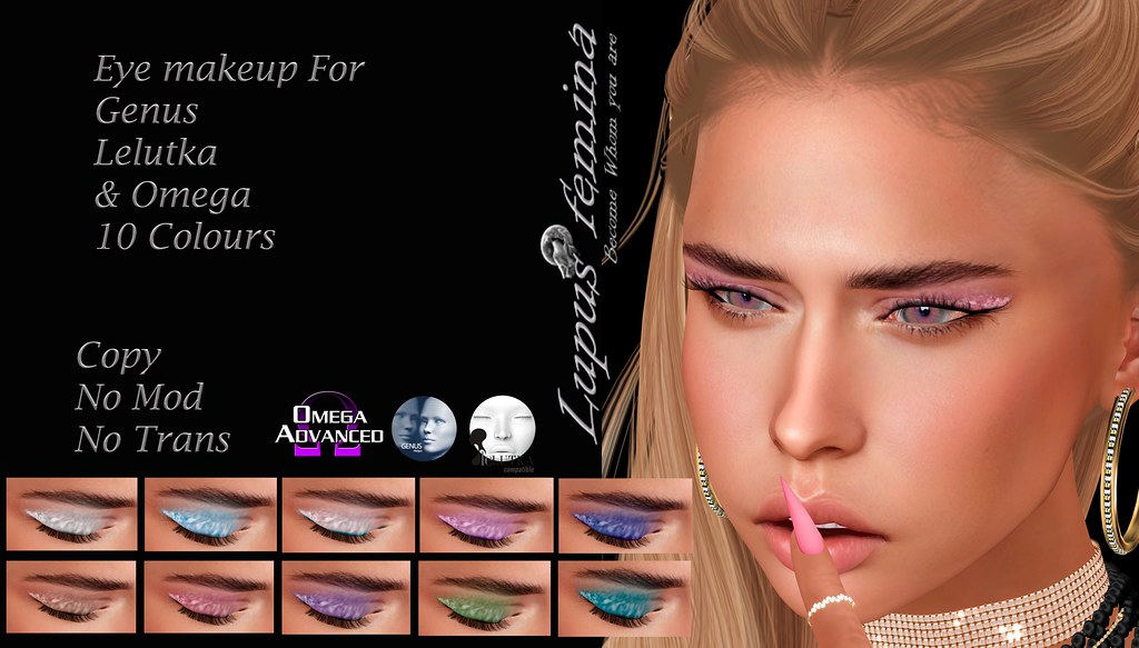 """Lupus Femina"" Eye Makeup 10 Colours"