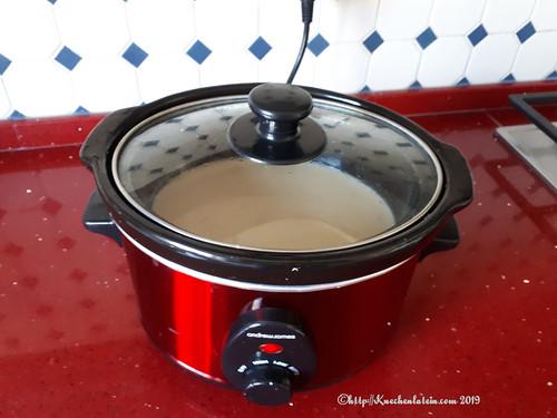 Blumenkohl-Cashew-Suppeaus dem Slowcooker
