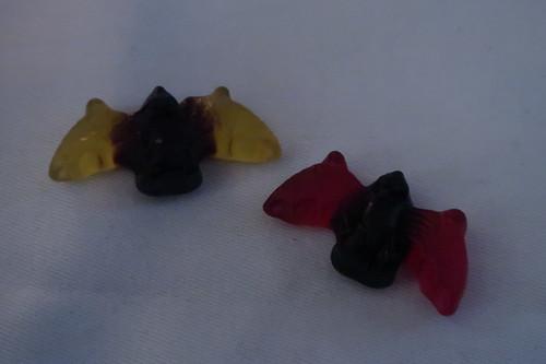 Fledermäuse aus Lakritz und Fruchtgummi