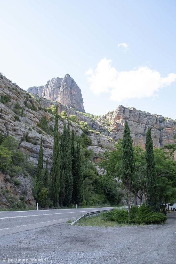 Kivimuodostelmia matkalla San Sebastiánista Andorraan