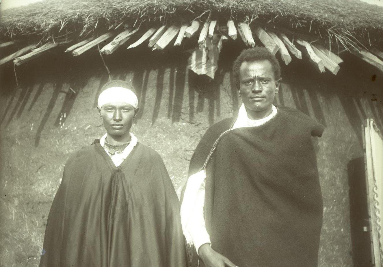 366. 1899. Абиссиния, Аддис-Абеба. Габра Христос с женой