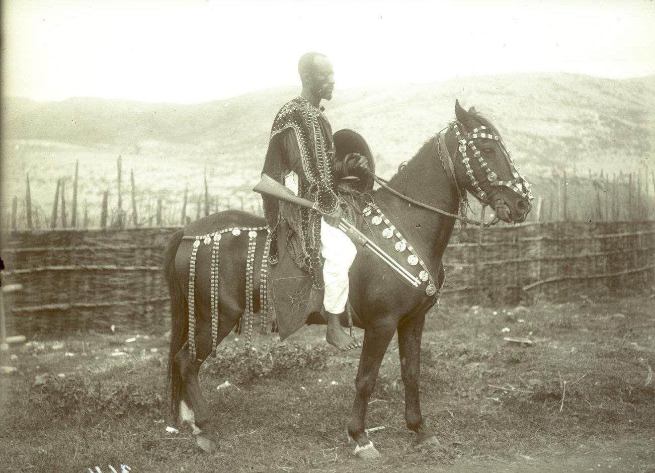 364. 1899. Абиссиния, Аддис-Абеба. Абиссинский кавалерист. Галла