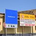 Former road sign of moroccan border... Ceuta (Spain)