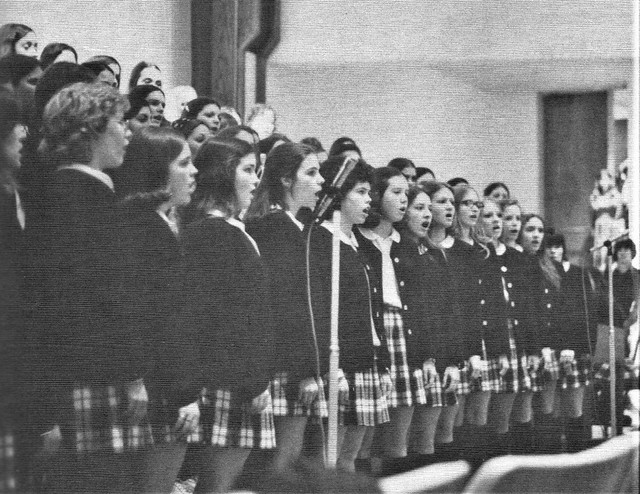 Glee Club singing One Tin Soldier in 1974 under the direction Sister Juliana in Beaverton Oregon