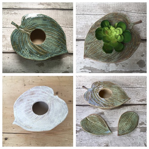 Ceramic leaves home decor