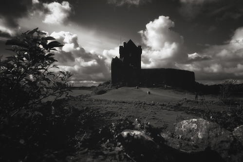 emeraldisle ireland northernireland acrossthepond fineartphotography landscape photography countygalway galway dunguairecastle castle irishcastle kinvarra contryside blackandwhite bw