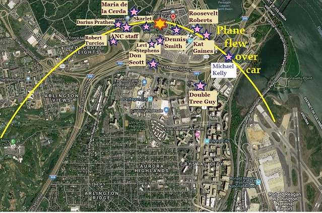 LOCATIONS of Possible Flyover Witnesses 1