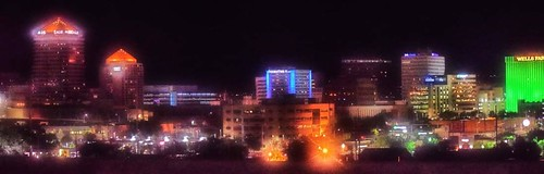 Albuquerque Skyline At Night, Albuquerque, New Mexico