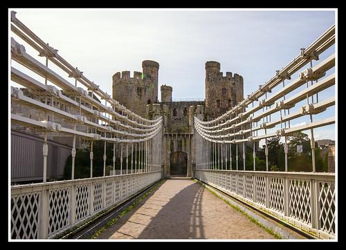 Suspension Bridge Towards Castle