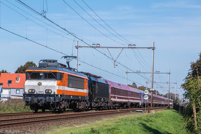 RFO 1837 + BR 189 095 | Erlebnis Tanzzug Alkmaar - Münster (Hbf) (DE) 13489 | Heiloo