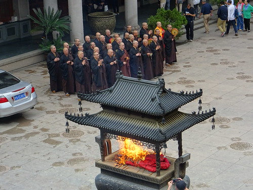 Monks in Jing'an Temple