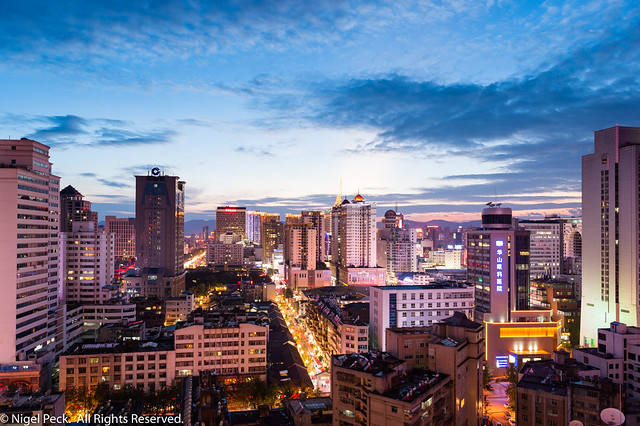Kunming in the Blue Hour