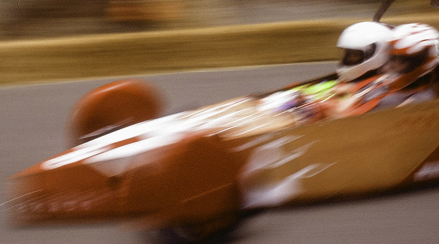 Orange Derby Racer