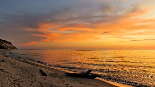 After sunset, Arcadia, Michigan