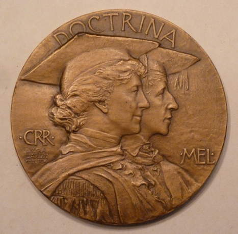 1915 Rosemary Hall 25th Anniversary medal by Laura Garden Fraser