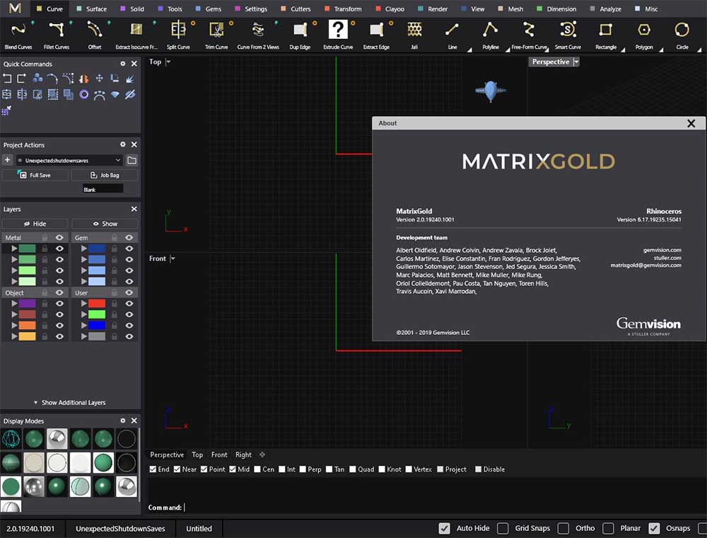 Working with Gemvision MatrixGold 2.0.19240 x64