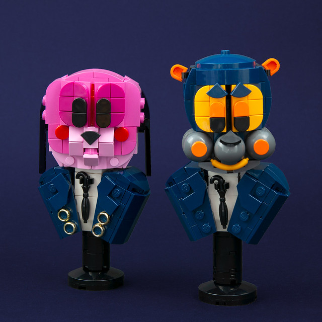 LEGO Umbrella Academy busts