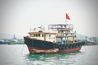 Hong Kong Fishing Boat at the Harbour