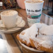 Cafe au lait, Frozen Cafe au Lait and first round of beignets