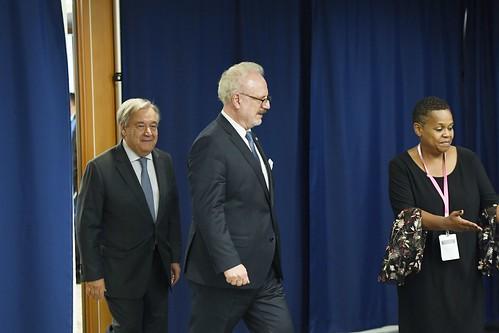 Valsts prezidenta Egila Levita tikšanās ar ANO ģenerālsekretāru Antoniu Gutērrešu