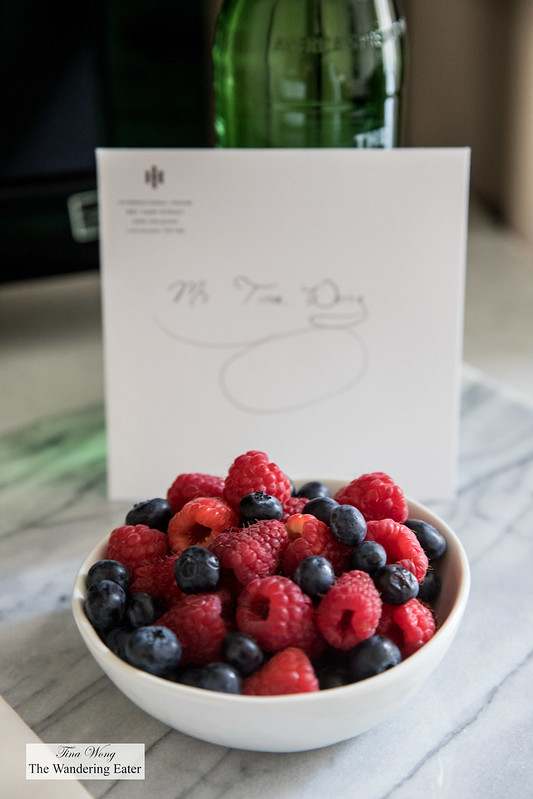 Fresh berries to welcome me