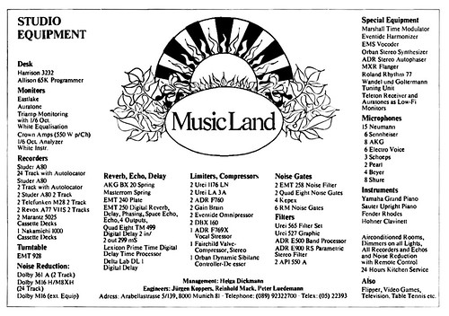 1979 MusicLand studios germany