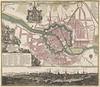 Matthaeus Seutter (1678-1757) - Gezicht op en plattegrond van Berlijn by Padre Martini