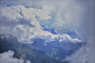 A sudden break in the clouds
