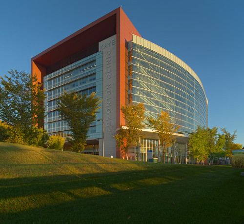 city urban panorama canada architecture hospital university edmonton pentax pano shift alberta 24 clinic tilt kaye k1 f35 tiltshift rokinon autumn fall colors grass colours foreground morning sunrise kec ts