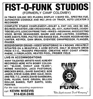 1979 fist-o-funk studios