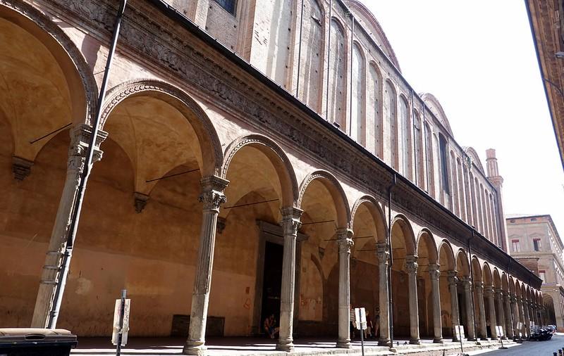 Portico in the historic heart of Bologna
