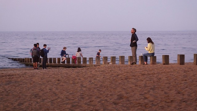 Awaiting the Setting Sun by the Sea 05