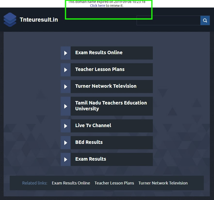 TNTEU B.Ed Result 2019 Expected Soon at tnteu.ac.in, Results site tnteuresult.in Shows Domain Expired