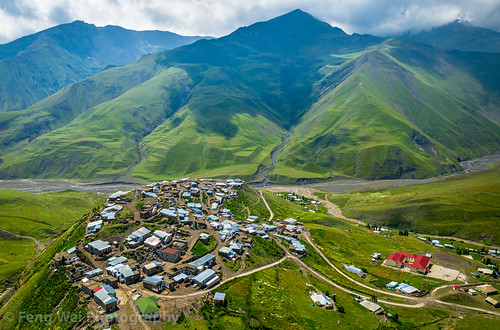 eurasia landscape asia azerbaijan colorimage aerial khinaliq beautyinnature remote panorama traveldestinations caucasus outdoors tourism scenicsnature horizontal travel mountain qubadistrict
