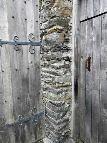 old wood door in Baltimore, Ireland