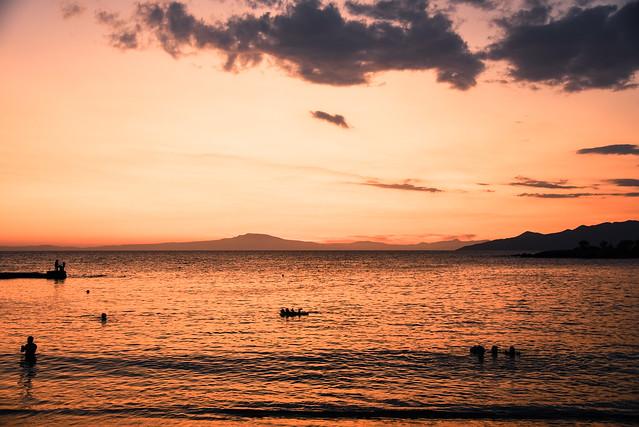 stoupa - sunset