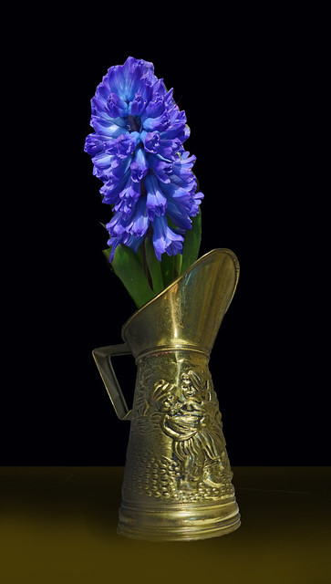 Stamped Brass Vase - Made In England