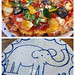 when we finished a pizza an elephant came out