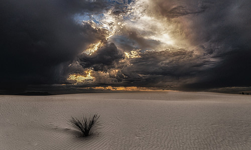 Ominous Sky Above the Dunes