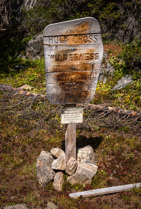 Holy Cross Wilderness Sign