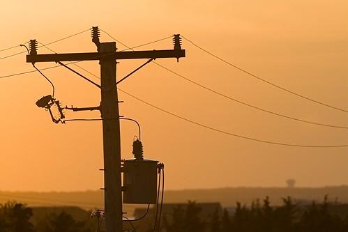 barnegatlight lbi power lines powerlines transformer sunset orange