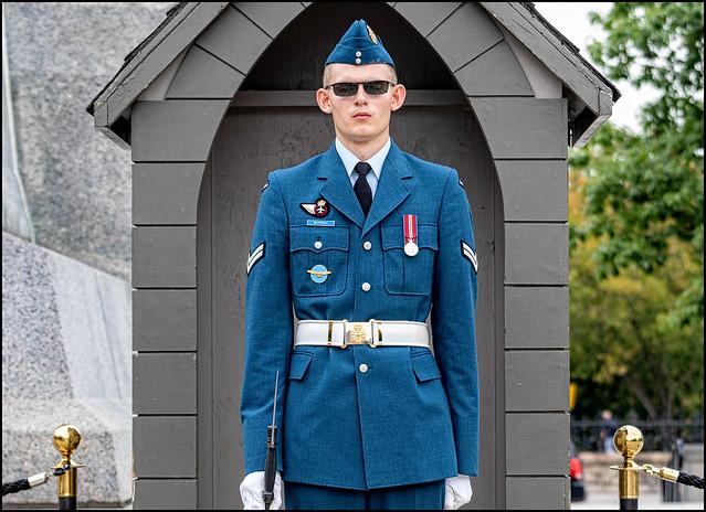 Corporal Bayrock on Guard