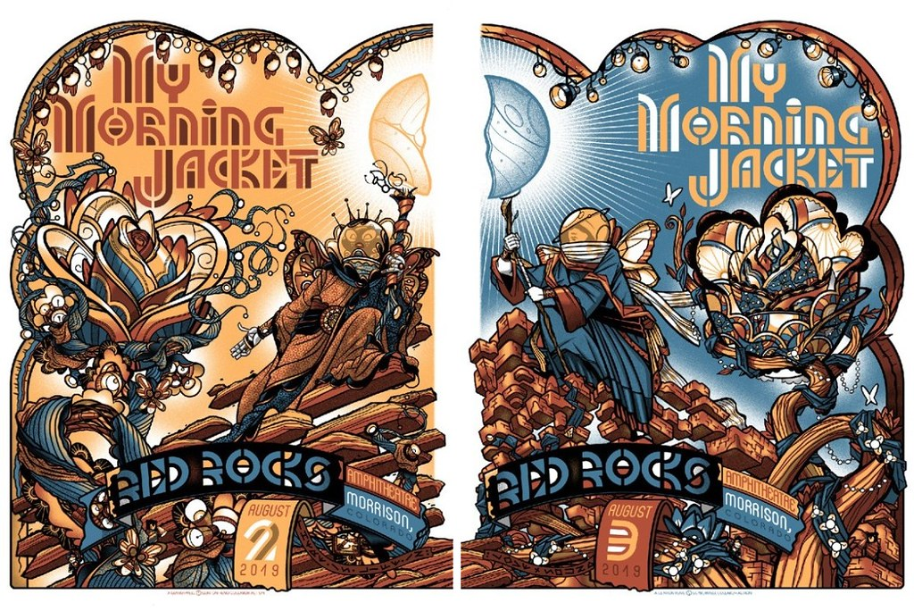 Details About My Morning Jacket Guy Burwell Reno Red Rocks Morrison Co Print Poster Signed Ap