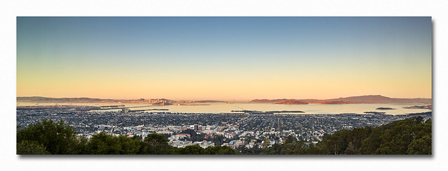 Daybreak over Berkeley and the San Francisco Bay